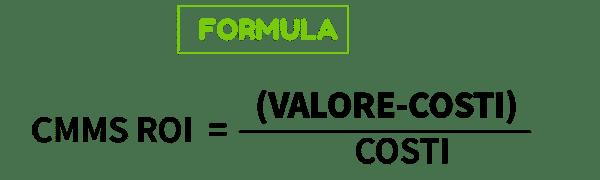 formula per il calcolo del ROI di un CMMS