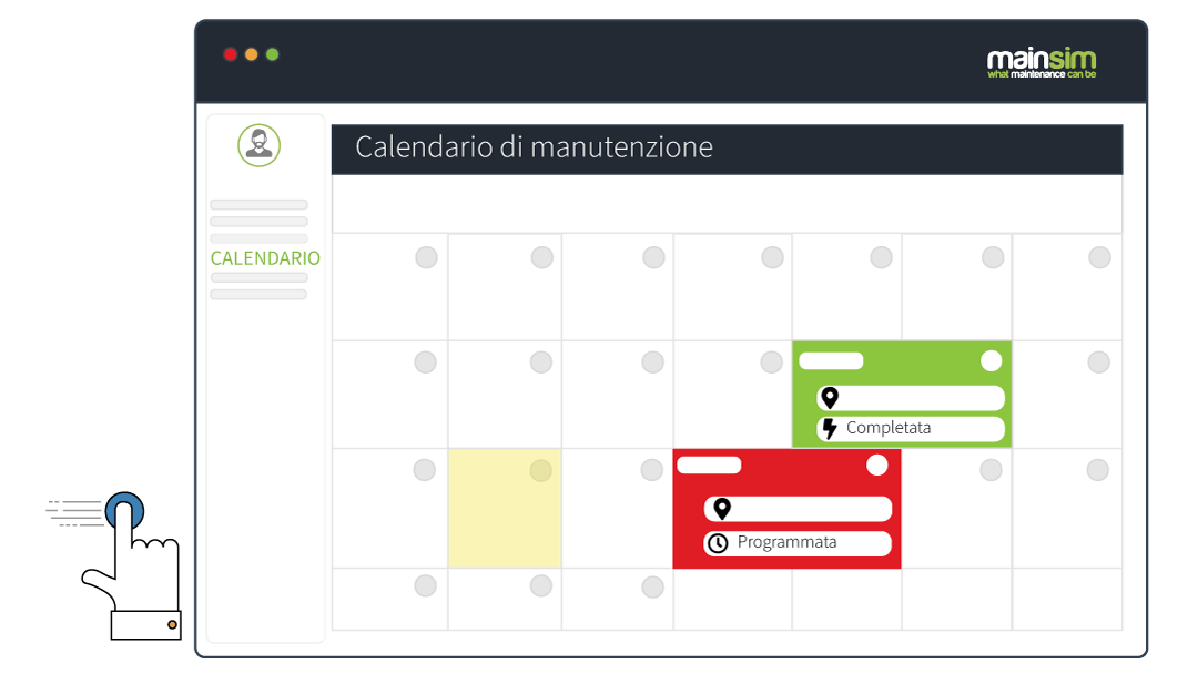 calendario di manutenzione programmata
