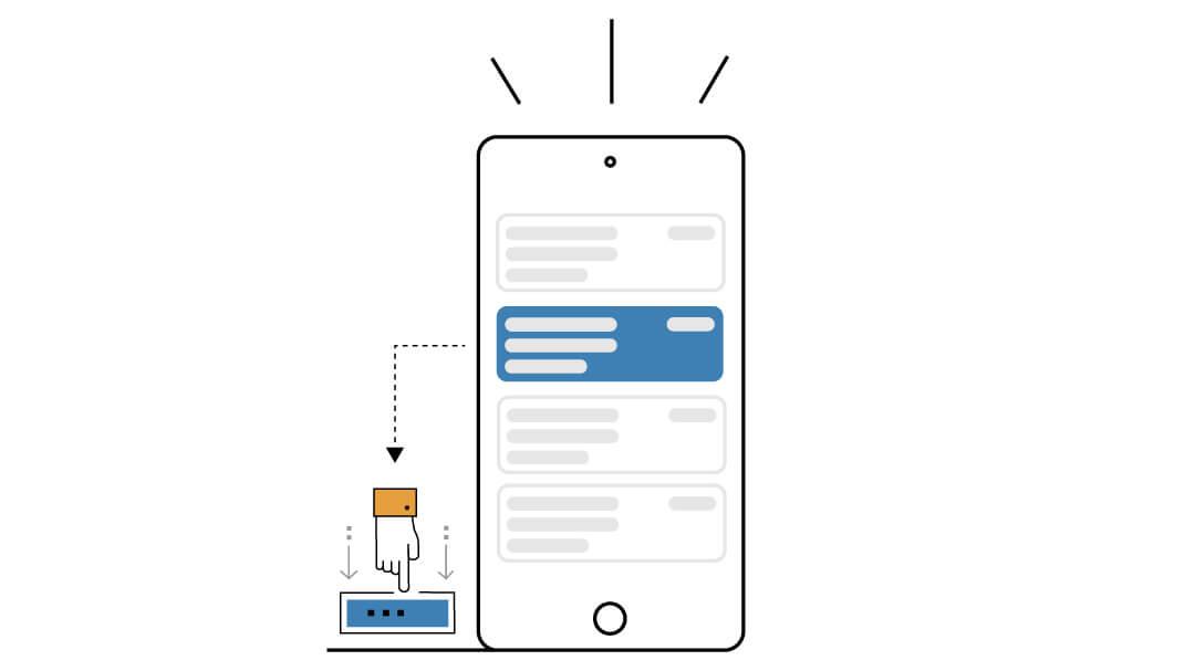 ordine di lavoro su mobile